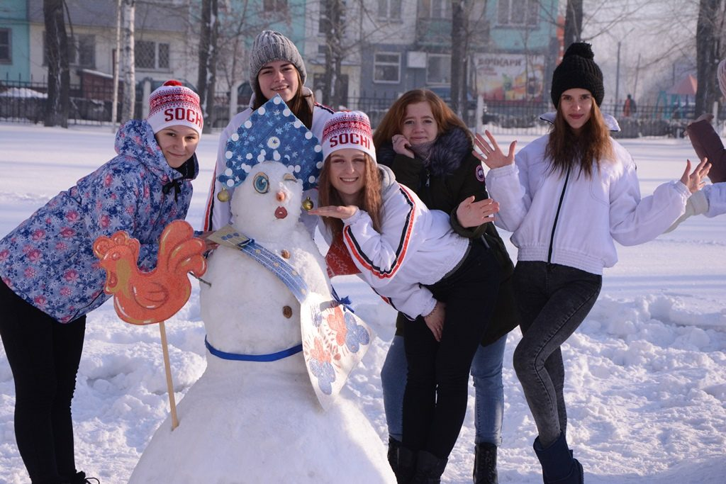Школа Снеговиков#Алтайская зимовка