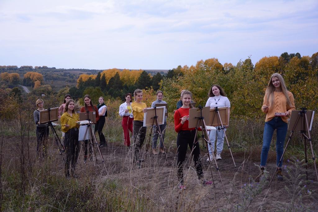 Осенний пленэр  в селе Красногорское